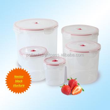 AirFree Vacuum Plastic Container Plastic Storage Container Airtight  Container  Round