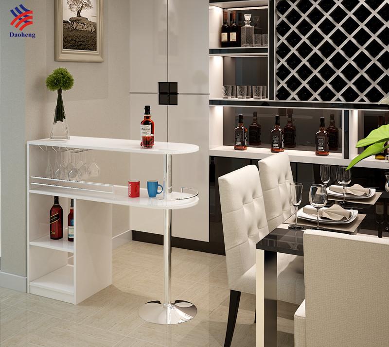 Moderne möbel bar  Moderne Melamin Chrom Home Bar Möbel Mini Theke Höhe Stehtisch ...