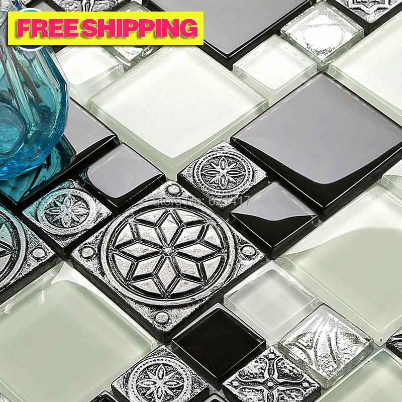 online kaufen gro handel grau mosaik wandfliesen aus china grau mosaik wandfliesen gro h ndler. Black Bedroom Furniture Sets. Home Design Ideas