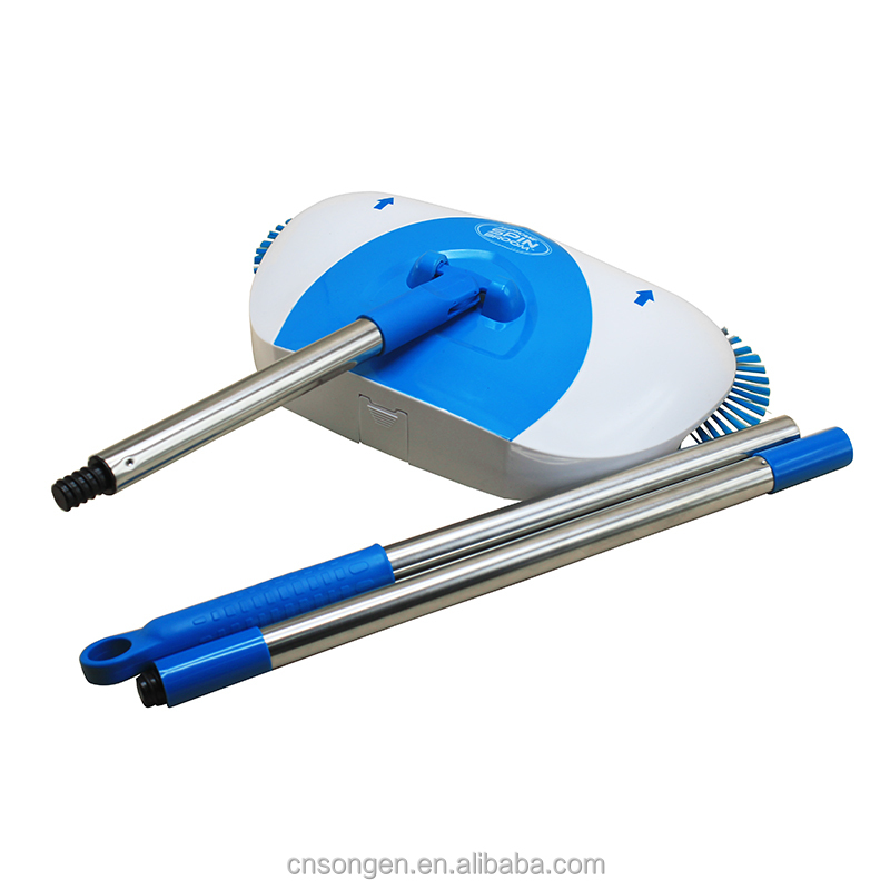 Spin Broom Mechanical Pull Dirt In Spinning Brushes Sweeping Machine