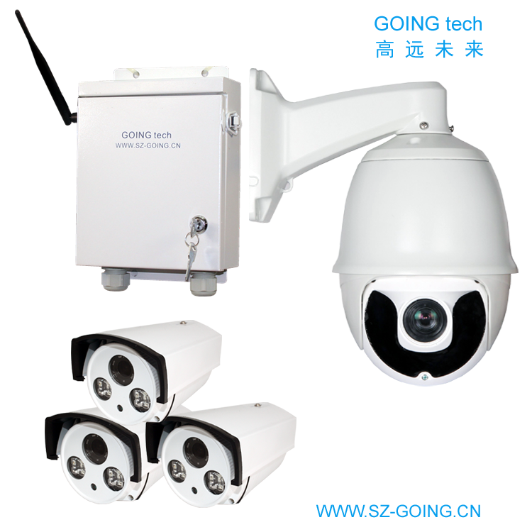 GOING tech wifi wireless 4ch security camera system ptz with 1T harddisk