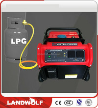 Dual fuel 5KW Multi-function Portable Gas Generator / LPG/Natural Gas Open Type Single Phase