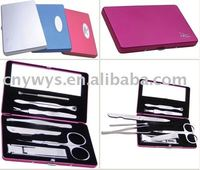 2012 promotional nail care sets in aluminium case