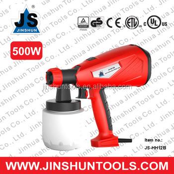 Oil based paint hvlp low pressure spray paint 500w js for Spray gun for oil based paints