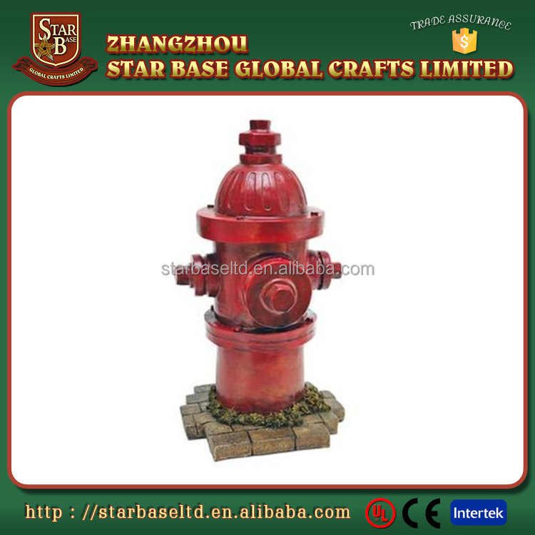 Factory Custom made best home decoration gift polyresin resin Fire Hydrant