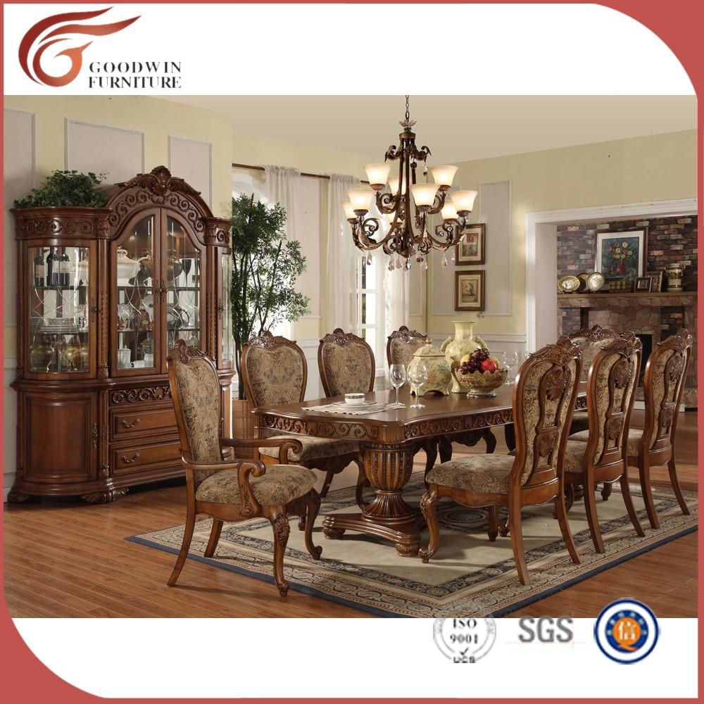 De gama alta mesa de comedor de madera y sillas wa163 sets for Muebles de comedor antiguos