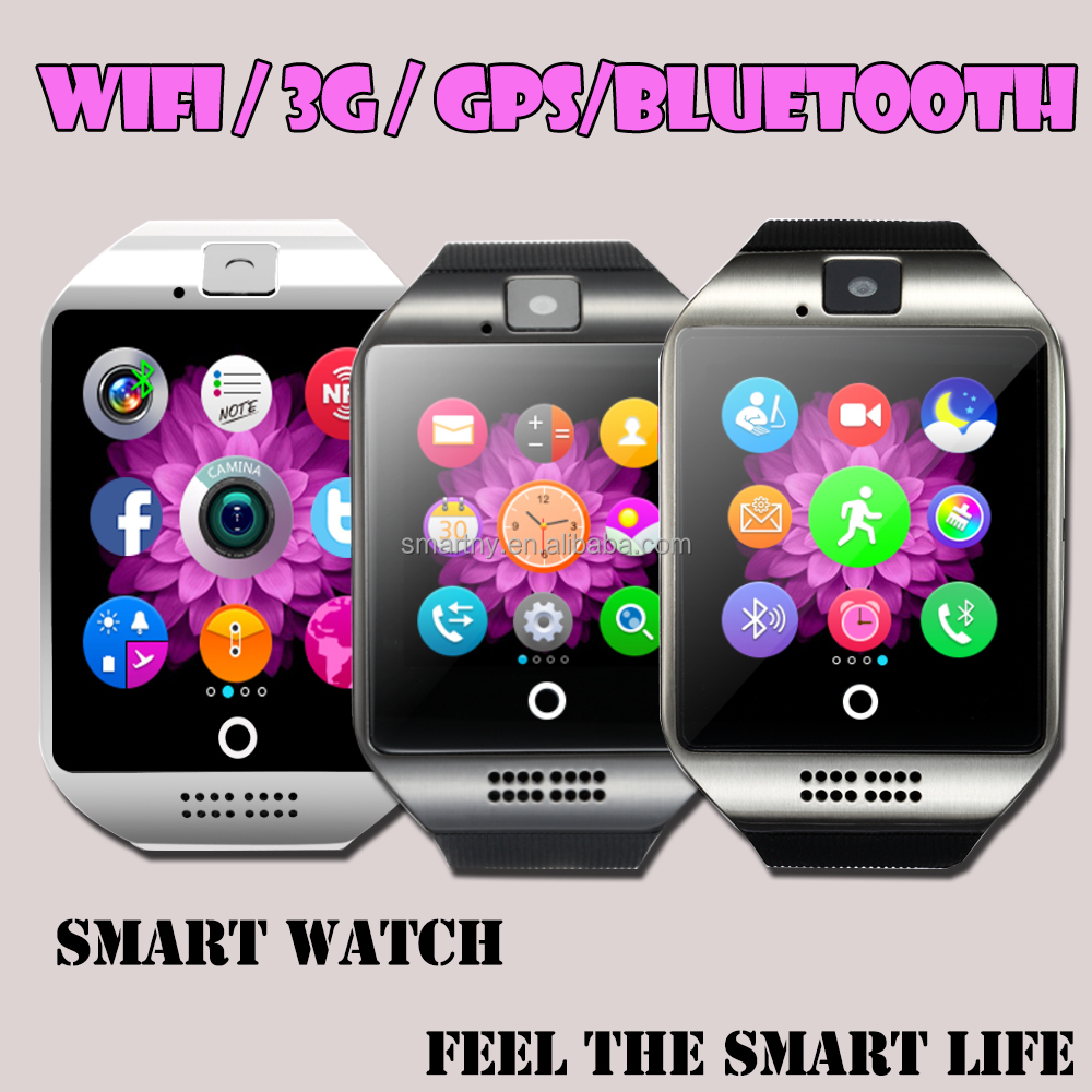 3G/wifi/bluetooth new q18 android mobile smart watch phones