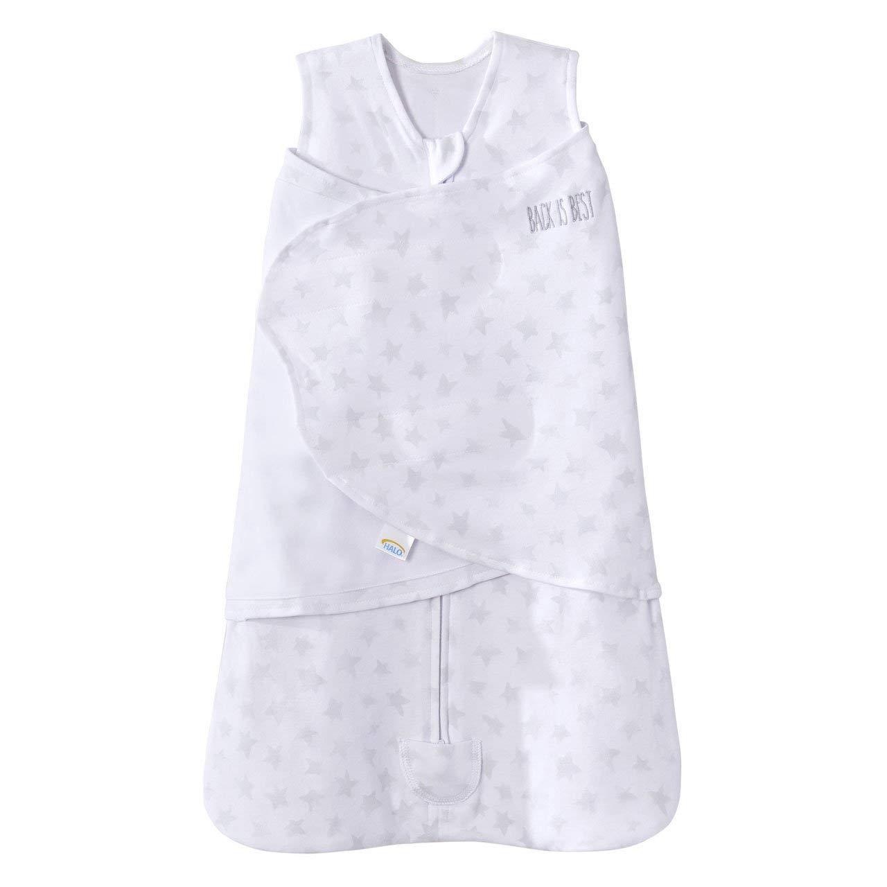 100% Cotton SleepSack Swaddle Platinum Series, Pale Grey Twinkle, Small