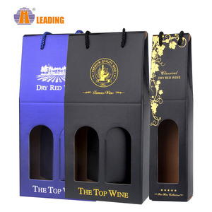 Fancy Mini Decorative Hand Carry Paper Tote Wine Bottle Gift Bag