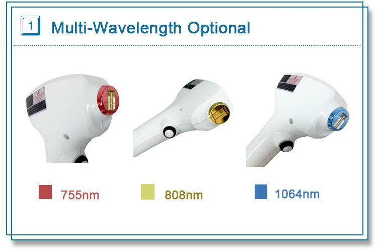 Stationary Laser hair removal system with 808nm 755nm 1064nm mixed wavelength for all skins