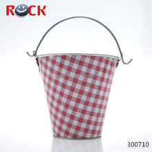 High quality tin bucket / christmas tin buckets / painted tin buckets