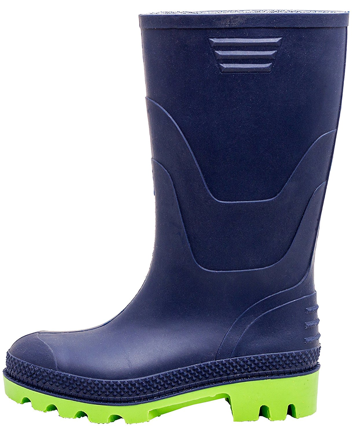 0b70f3ed1f47 Get Quotations · Curonian Boots Solid PVC Children Kids Navy Green  Wellington Rain Boots Sizes 2M-5M