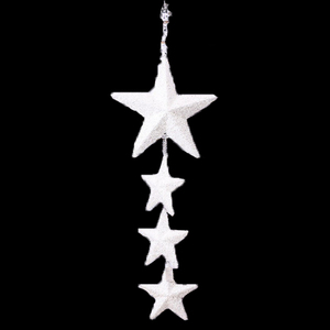 Big white polyform star with ball wall window hanging wedding decoration