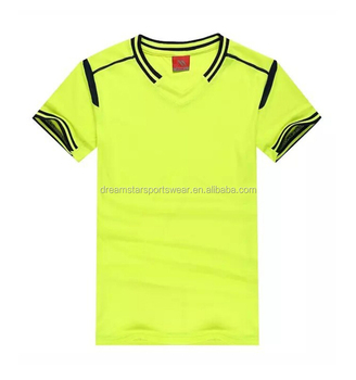 Best Quality Custom Fluorescent Green Jersey Football Jersey