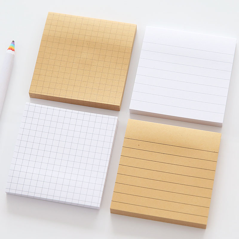 Cheap Paper Sticky Note Kraft Paper Memo Pad Custom Easy Taking Sticky Note