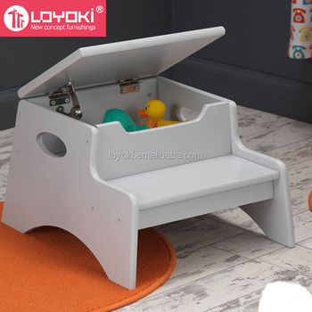 Enjoyable Beech Wood 2 Step Kids Utility Bed Step Stool Non Slip Bedroom Child Footstool With Storage Buy Footstool Kids Stool Child Stool Product On Creativecarmelina Interior Chair Design Creativecarmelinacom