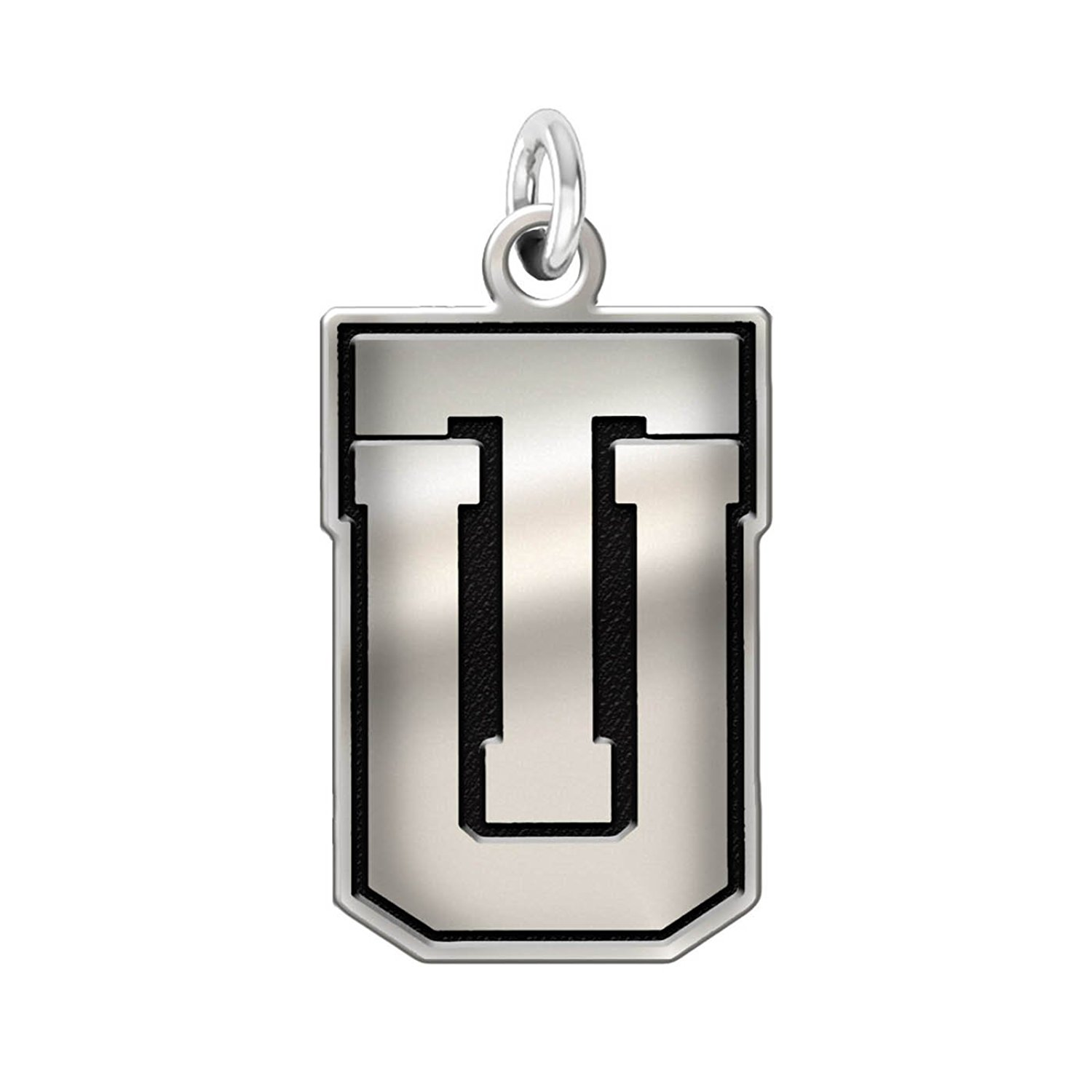 """University of Tulsa Golden Hurricane 1/2"""" Sterling Silver Cut Out Logo Charm"""