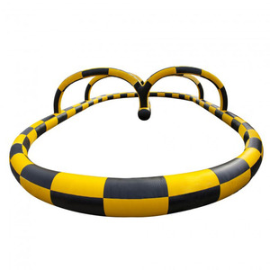 Inflatable race car track, inflatable race track for bumper cars