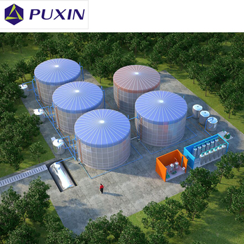 Puxin 260m3 Portable Assembled Biogas Digester for Waste Treatment