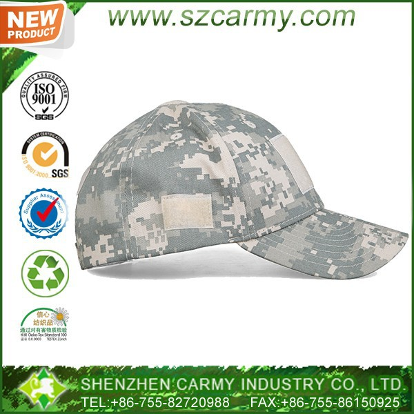 Velcro style TC fabric Camouflage ACU tactical baseball cap