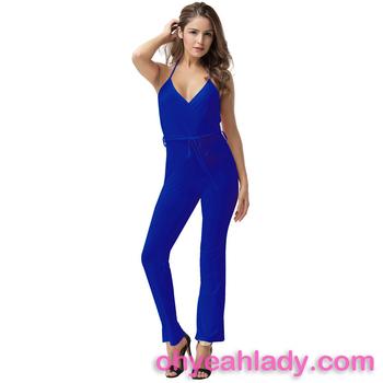 Оптовая Продажа Топ Мода женщин комбинезон с поясом Офис формальная одежда  женщин 0343d4083c0d1