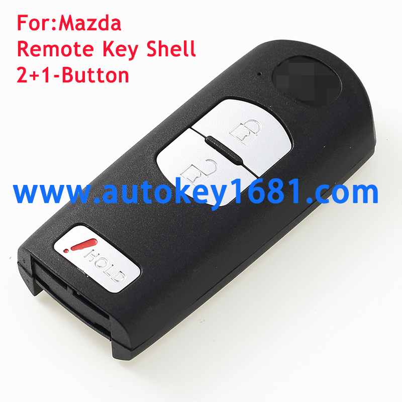 New Uncut Smart Remote Key Shell Case Fob 2Button+Hold Button for Mazda CX-7 CX-9