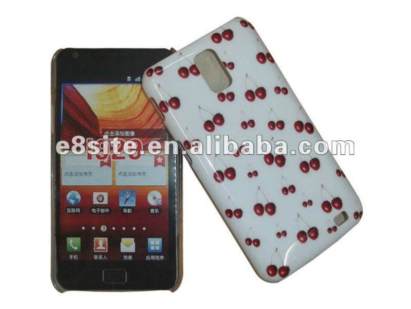 Cherry Printing IMD Crystal Cover Cases For SamSung Galaxy S2 Duo i929