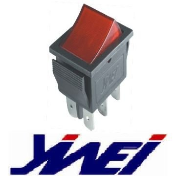 red rocker without mark change over 30.8*25.5mm NEON lamp rocker switch(YW1-504-C 20A125V 15A250V AC)