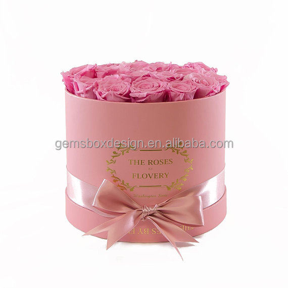 Medium Eternity Rose flower Preserved round rose <strong>box</strong>