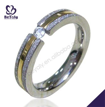 2015 cheap price jewelry 316L stainless steel ring stone model