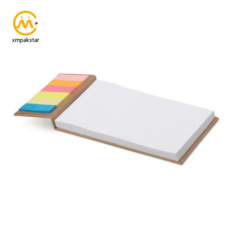 Factory outlet eco friendly custom white hardcover paper blank sticky notepad note pad