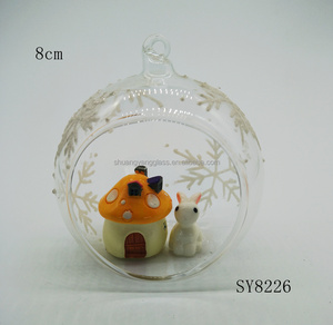 Wholesale Easter gift decoration open terrarium rabbit glass Osterhase Easter decoration
