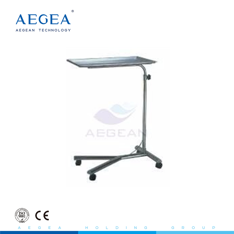AG-SS008 Stainless steel surgical operating room instrument mayo table