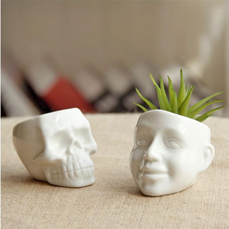 New Garden Planter Succulent Plants Potted White Ceramic ...