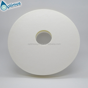 Customized Round Melamine Foam Floor Pads / magic sponge for Cleaning Machines