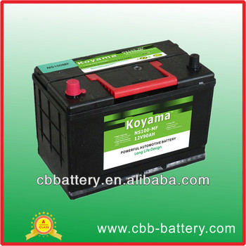 calcium mf battery ns100 view 12v90ah cbb calcium mf battery koyama product details from. Black Bedroom Furniture Sets. Home Design Ideas