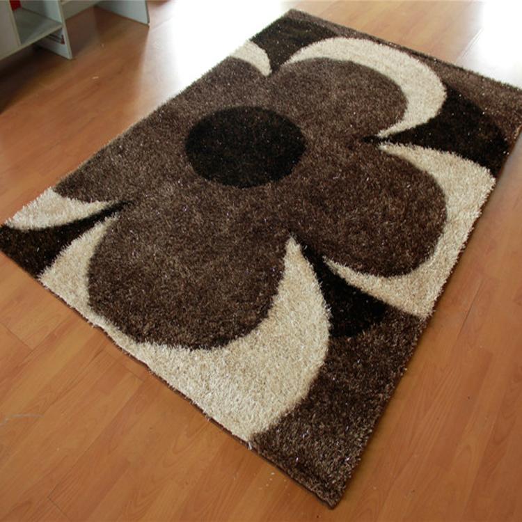 Poli ster peluda alfombra hecha a mano en forma de flor - Alfombras para el hogar ...