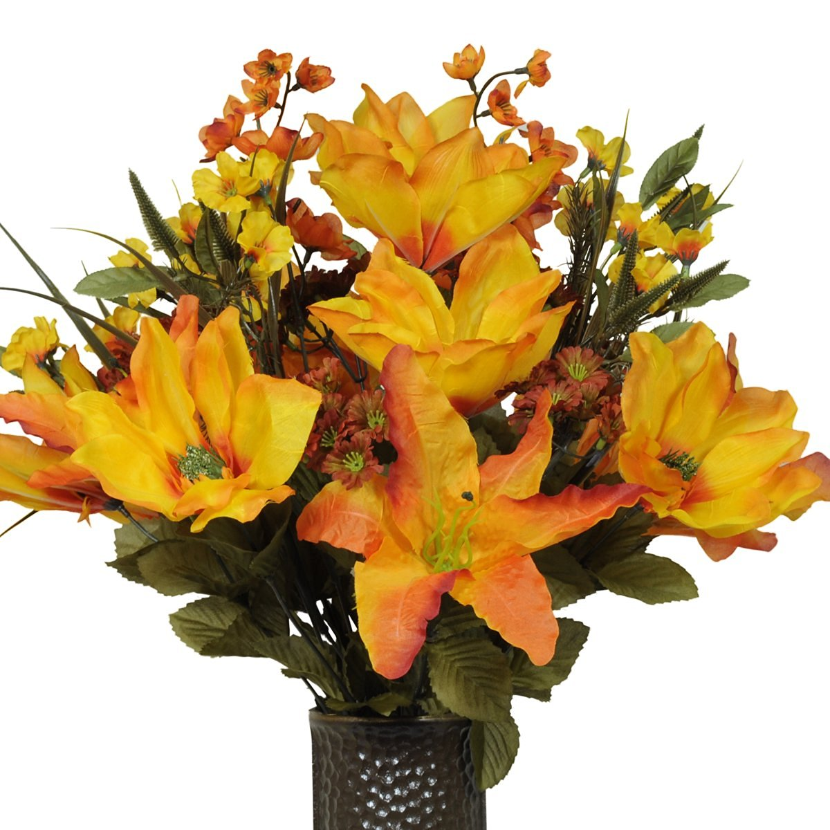 Buy orange magnolia orange stargazer lily artificial bouquet orange magnolia orange stargazer lily artificial bouquet featuring the stay in the izmirmasajfo