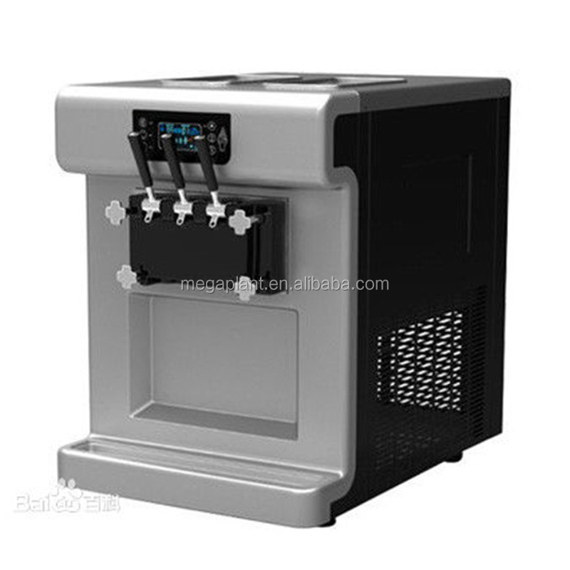 China producer commercial 3 flavor ice cream machine soft serve