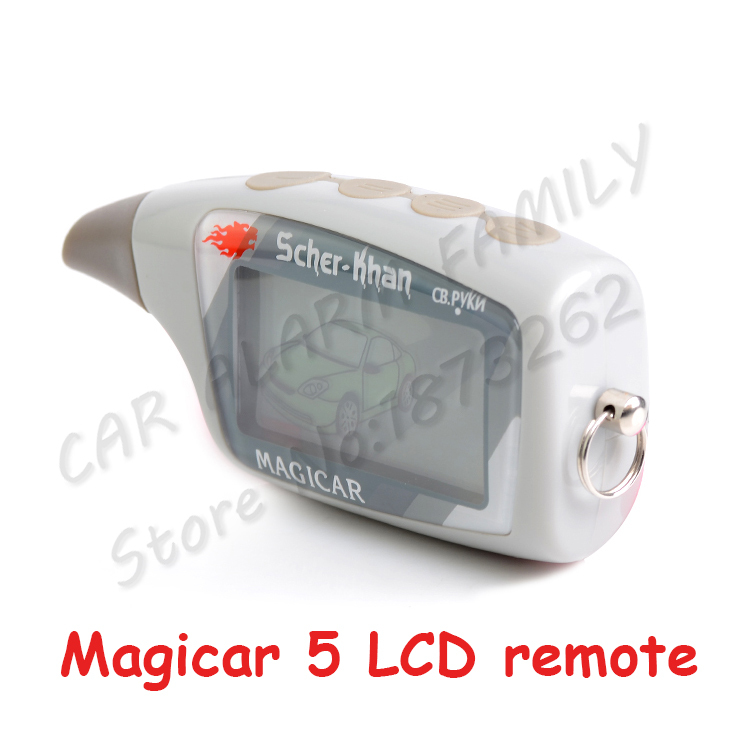 M5 жк-дисплей пульт дистанционного управления для шер - Magicar 5 два способ автомобиль сигнализация система русская версия шерхан Magicar M5 дистанционного