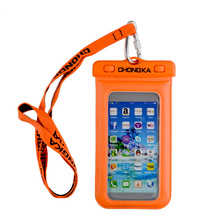 TPU Waterproof Case with Neck Strap for Smartphones, GPS, mp3 Player