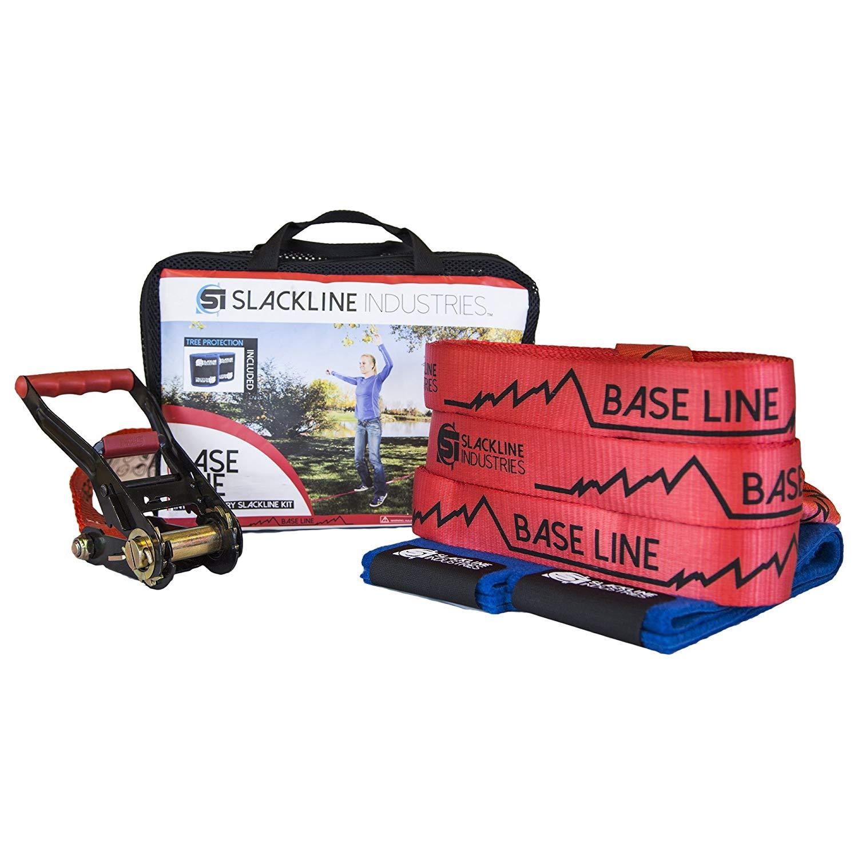 Slackline Industries Baseline Slackline Complete Kit With Tree Protection