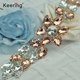 Keering Desgin Elegant Decorative Pink Rhinestone Embellishment For Wedding Dresses WRE-285