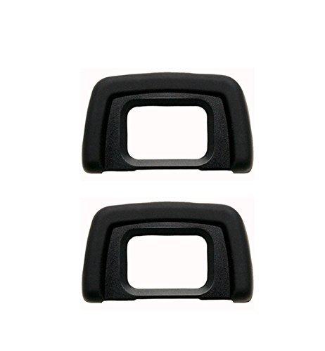 2 Pack DK-20 Rubber Eyecup Eyepiece Viewfinder for Nikon D3000 D3100 D3200 D5100 D60 D50 D40 D40X DSLR Camera Microfiber Clean Cloth CEARI