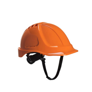european style HDPE hard hat with ventilation