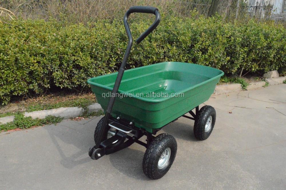 4 ruedas carrito de jard n cami n saco herramienta carro for Carretillas para jardin