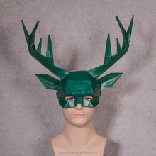 PM-2904 Creative green half face Christmas deer mask for Christmas party