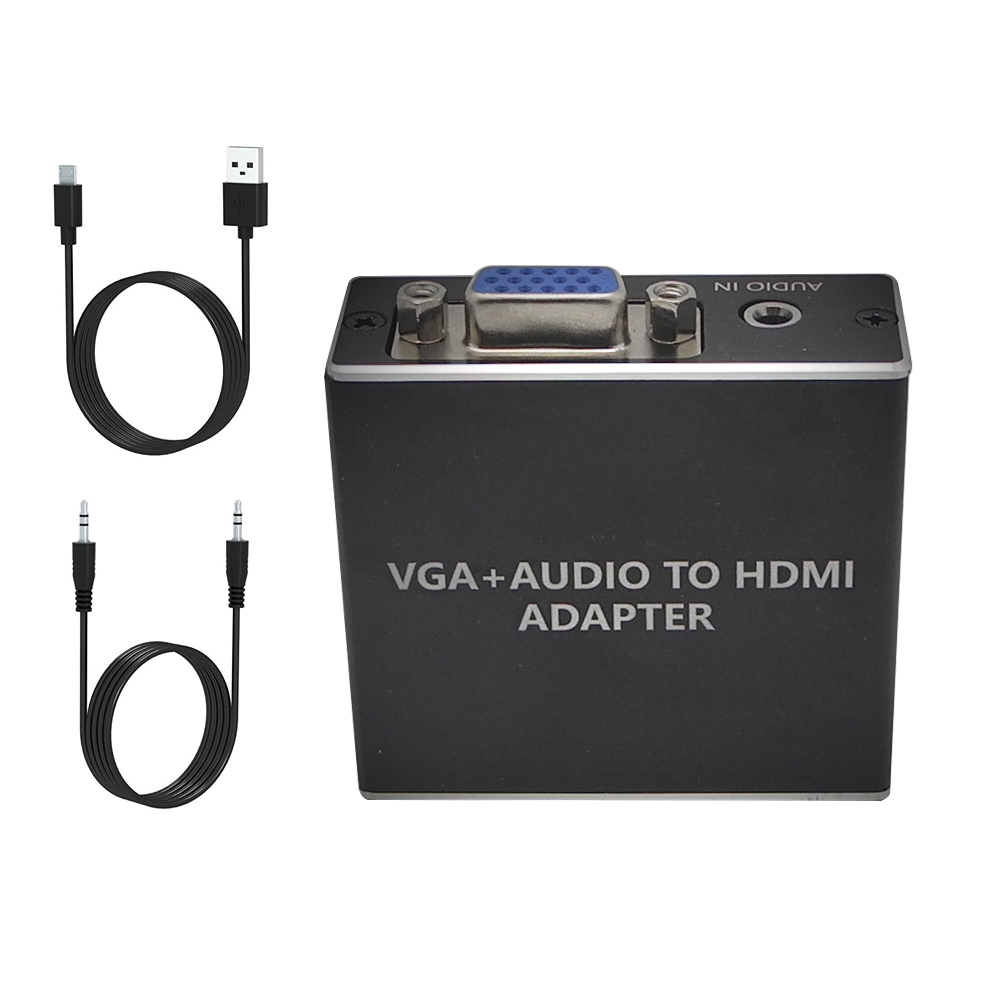 Factory Metal VGA To HDMI Output 1080P HD Audio TV AV HDTV Video Cable Converter Adapter