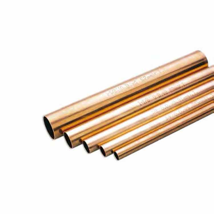 Straight lengths hard copper heat pipe for air conditioners