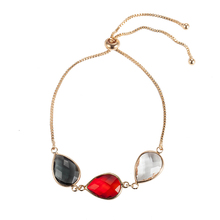 Fashion gemstone crystal hanging crystal bead bracelet jewelry for packaging wholesale NS8037274